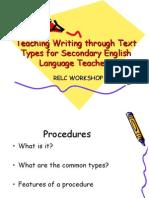 Teaching Writing Procedures