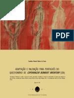 Adaptação e Validação para Português do Questinário de Copen