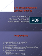 Estatistica No Brasil Presente e Perspectivas Futuras - Gauss M. Cordeiro