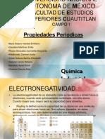 Electronegatividad y  Afinidad Electronica