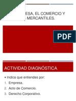 i.- Empresa, Comercio y Actos Mercantiles.