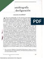 La autobiografía como des-figuracion, Liliana Ramírez