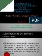 Diseño y funcion de curvas de calibracion