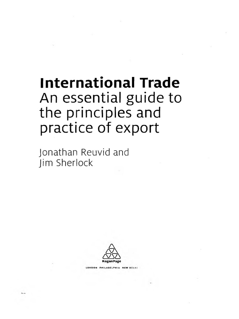 International trade an essential guide to the principles and international trade an essential guide to the principles and practice of export balance of payments government budget balance fandeluxe Choice Image