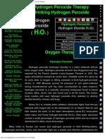 Drink H2O2 Drinking Hydrogen Peroxide Hydrogen Peroxide Therapy