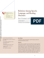 Relations Amogn Speech Lenguaje and Reading Disorders