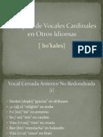 Ejemplos de Vocales Cardinales en Otros Idiomas