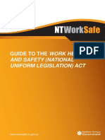NT WorkSafe Guide to the Work Health and Safety Act