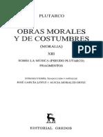 Plutarco - Moralia Xiii - 75 - Sobre La Musica (Pseudo Plutarco)