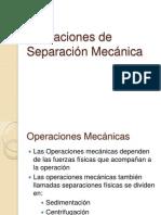 Operaciones de Separación Mecánica