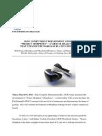 Scei Press Release Sce Announces Project Morpheus