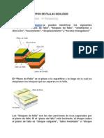 COMPONENTES Y TIPOS DE FALLAS GEOLÓGICAS