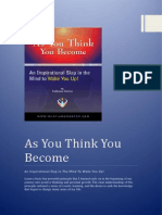 As You Think You Become for How to Think Positive