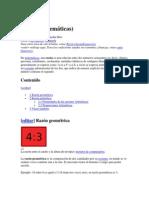 Razon, Proporciones y Radical