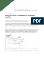 AN7  OP-Amp Video Amplifier