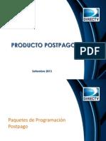 Presentación Postpago, paquetes, tarifa de conexión