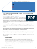"""""""Dear Email Customer, Drop Dead""""_ Here's How You Soothe Angry Customers by Email _ CustomerThink"""