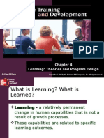 Learning Theories and Program Design