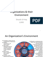 Organizations & Their Environment