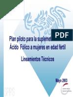 Proyecto Piloto Acido Folico