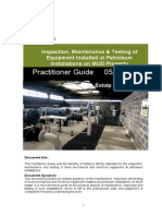 Practitioner Guide 0512 Inspection, Maintenance & Testing of Equipment Installed at Petroleum