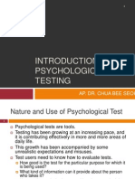 Chapter 1 - Updated Introduction to Psychological Testing