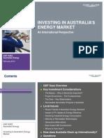 Investing In Australia`s Energy Market