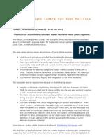 Lord Rennard Press Release 22-10