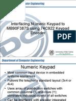 Interfacing Numeric Keypad With MB90F387S