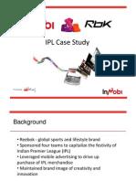 Reebok Ipl Case Study