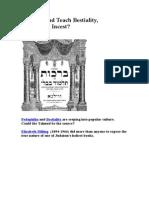 Does Talmud Teach Bestiality