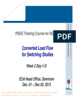 Converted Load Flow for Switching Studies