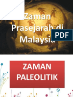 Zaman Prasejarah Di Malaysia