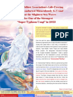 """Lake of Lotus(48)- Dudjom Buddhist Association's Life-Freeing Ceremony Conducted Miraculously As Usual Without the Slightest Sea Waves Under One of the Strongest """"Super Typhoon Usagi"""" in 2013-"""