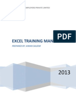 excel training manual 1