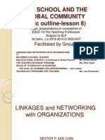 Teachprof Group4 Linkagesandnetworkingwithorganizationsmr 131014204034 Phpapp01