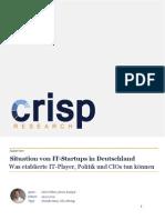 Situation von IT-Startups in Deutschland – Was etablierte IT-Player, Politik und CIOs tun können