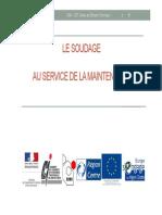 2012 CDT Presentation Le Soudage en Maintenance