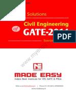 GATE 2014 Civil Engineering Keys & Solution (Evening Session)
