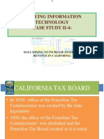 Data Mining to Increase State Tax Revenue in California