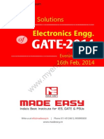 GATE 2014 Electronics Engineering Keys & Solution on 16th (Evening Session)