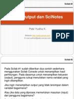 Scilab #2 - Input/Output Dan SciNotes