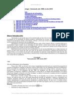 Informe CRONOLOGIA DE VENEZUELA AÑO 1999 AÑO 2010