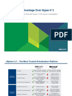 At a Glance the vSphere 5.1 Advantage Over Hyper v 3 Technical