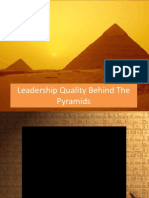 Leadership Quality Behind the Pyramids (1)