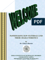 Papermaking Raw Materia & Their Characteristics II