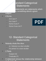 12- Standard Categorical Statements