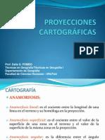 Presentación 4 - cuarta clase PROYECCIONES CATOGRÁFICAS
