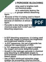 Ecf Hydrogen Peroxide Bleaching