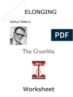 Arthur Miller the Crucible Worksheet 2013